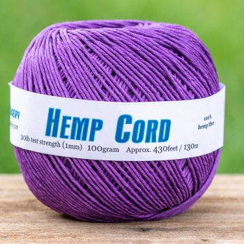 Purple Hemp Twine, Jewelry Cord  1mm, 430 Feet,   Dyed Hemp, eco friendly dye