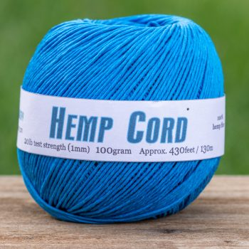 Turquoise   Hemp Cord 1mm, Macrame Cord,  Craft Cord