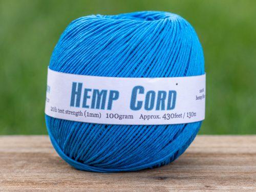 Turquoise   Hemp Cord 1mm, Macrame Cord,  Craft Cord