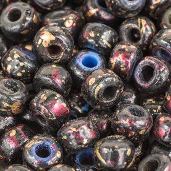 Black Glass Beads, 50pcs,  9mm Glass Beads,   Pony Beads, 3mm Hole, Round Beads -B2174