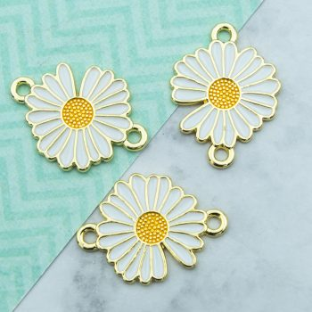 enamel flower charms
