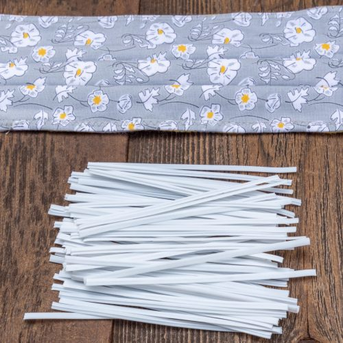 50 Small Nose Wires for mask making, white color, 3 3/4 inch  - B2941