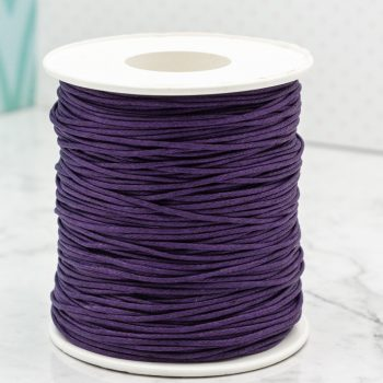 Dark Purple Waxed Cotton Cord  1mm,   macrame cord, 100 yards