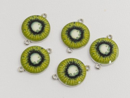Fruit Connector Charms, 5 pieces,   17mm,  alloy metal - C1174