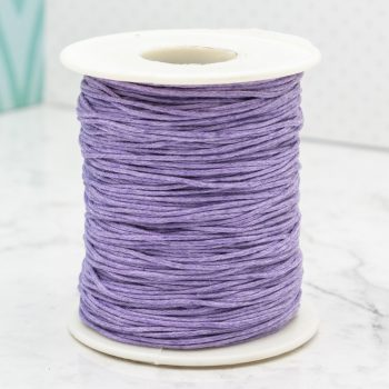 Wax Cotton Cord  1mm, lavender  macrame  jewelry  supply, 100 yards