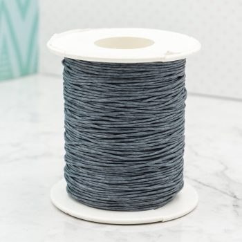 Waxed  Cord  1mm,   macrame cord, 100 yards, grey