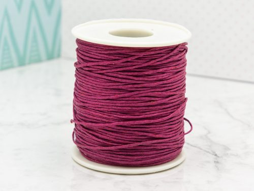 Waxed  Cord  1mm,   macrame cord, 100 yards, Wine