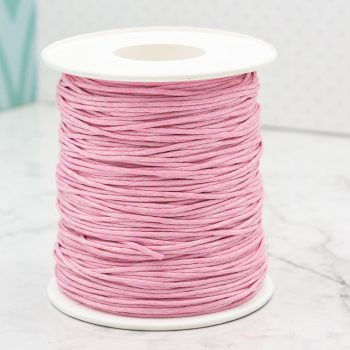 Waxed  Cotton Cordm light   pink 1mm,   100 yards ,  macrame cord,  Jewelry supply
