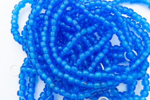 Crow Beads, 100 Pieces,   9x7mm, 3mm Hole,  Blue  -B2996