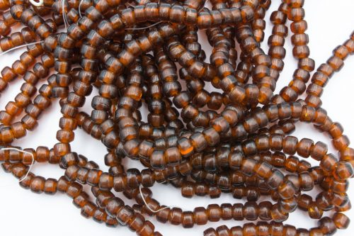 Crow Beads, 100 Pieces,   9x7mm, 3mm Hole,  Brown  -B2997