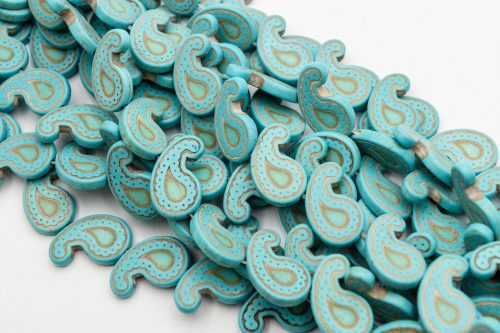 1 Strand Howlite paisley Beads, 24mm, dyed stone beads -B3011