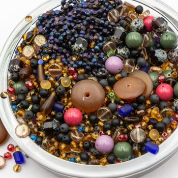 8oz Glass Bead Mix,  Assorted Size,  Seed Beads, Czech Glass Beads   -B2914