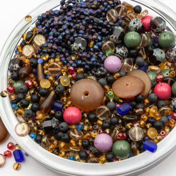8oz Glass Bead Mix,  Assorted Size,  Seed Beads, Czech Glass Beads   -B2914