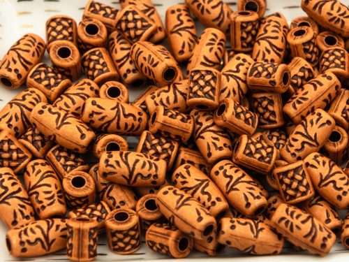 Acrylic Tube Beads, 30pcs, Mixed Styles,   Spacer Beads,  Orangey Brown  -B2937