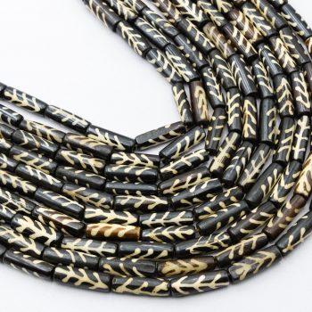 Bone Tube  Beads  25mm,  15 Inch Strand,    hand carved -B3070