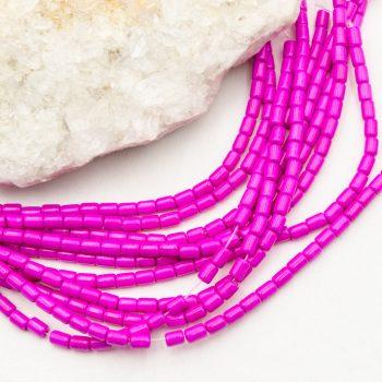 Dyed Howlite  Beads, 5x3mm, 15 Inch Strand, magenta  -B3034