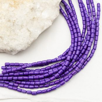 Dyed Howlite  Beads, 5x3mm, 15 Inch Strand, purple  -B3035