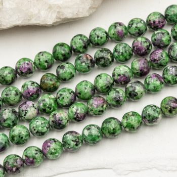 Natural labradorite Beads,  8mm, round green,  46 piece strand -B3038