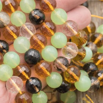 """Round glass beads,  Faceted,   14"""" Strand,  10mm, 1mm Hole  -B289"""