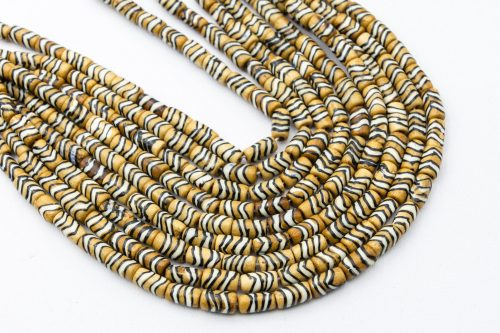 Small Bone Tube  Beads  12mm,  15 Inch Strand,    hand carved -B3068