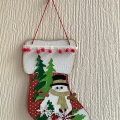 Christmas Wooden Stocking Wall Hanging