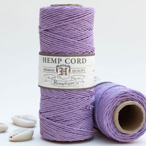 Lavender Hemp Cord 1mm, 205 feet