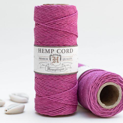 Dark Pink Hemp Cord, 1mm 205 Feet
