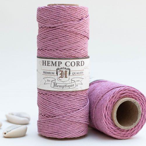 Light Pink Hemp Cord, 1mm, 205 Feet