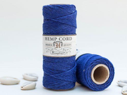 Royal Blue Hemp Cord 1mm, 205 Feet