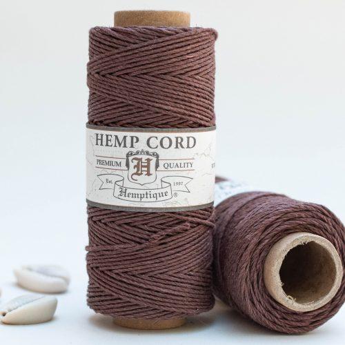 Dark Brown Hemp Cord, 1mm