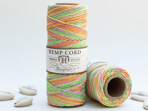 Neon Hemp Cord, 1mm, 205 Feet