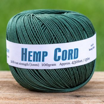 forest green hemp cord 1mm