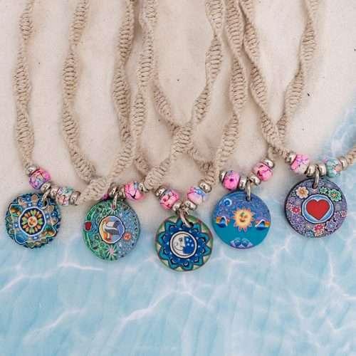 hippie hemp necklaces