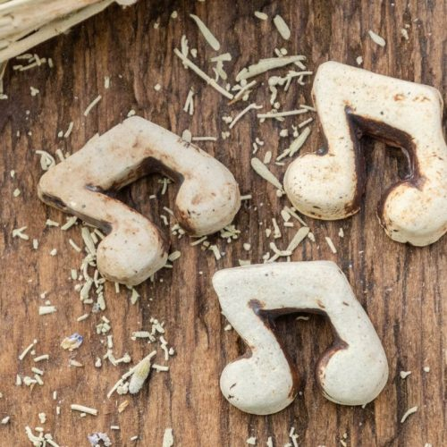 4 Musical Note  Pendants,    natural clay color,  top drilled,  music charms