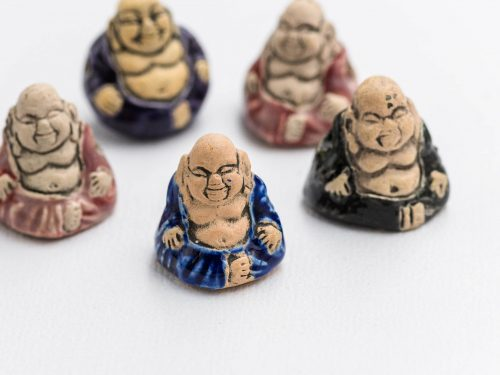 Clay Necklace  Pendants,  Buddha  Beads  charms, Yoga Pendants beads,  2mm hole, Jewelry Supplies - 3 pieces