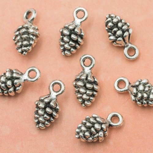 Pine Cone Charms, 20pcs, 9x8mm, Pine Cone Pendant, Nature Charms, Metal Charms, Fur Cones -C512