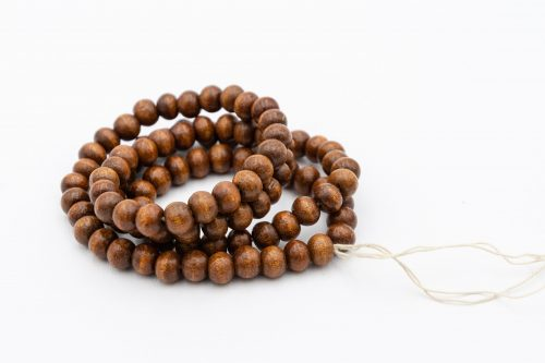Round Wood Beads, 9-10mm, 100pc, Brown  Beads, 1-2mm Hole -b2893