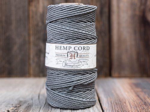 Gray Hemp Cord  2mm,  48lb,   macrame jewelry cord - 1 spool