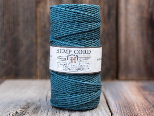Green macrame cord,  hemp fiber, macrame rope, thick bracelet cord,   48lb 205 feet spool, Emerald