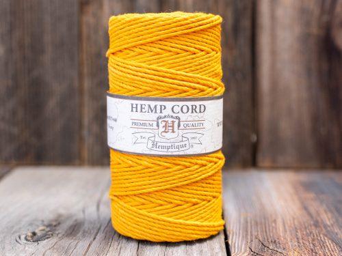 Hemp Cord 2mm, Gold Hemp Twine,   Hemp Rope,   205 Feet Spool
