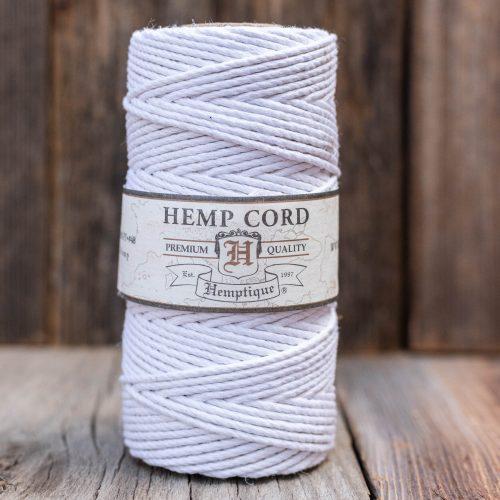 Hemp Cord 2mm, white macrame cord,  Thick  Hemp For jewelry and crafts,    1 Spool