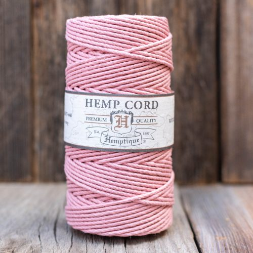 Hemp Rope  2mm,  macrame cord,  48lb Twine, Vintage Pink,  1 Spool
